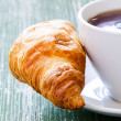 Cofee and croissant — Stock Photo