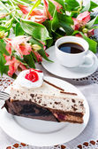 Cake and coffee — Stock Photo