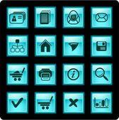 Ikony sieci web — Wektor stockowy