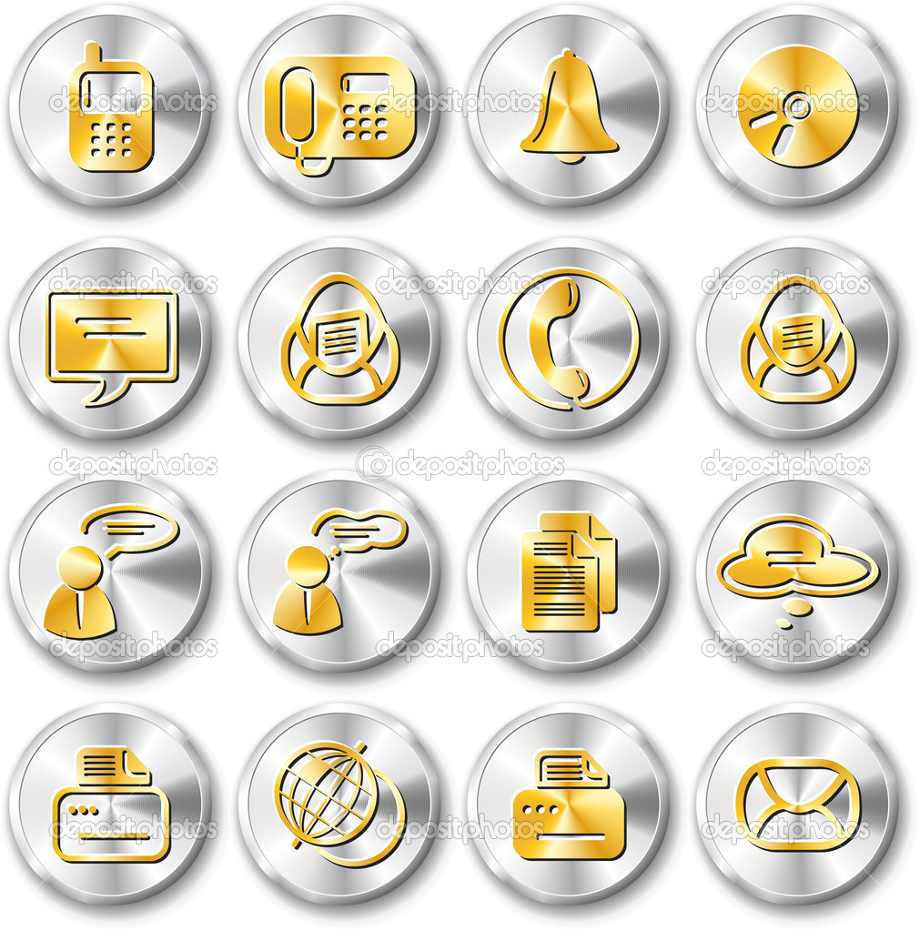 Miscellaneous office and communication vector icons — Stock Vector #7980666