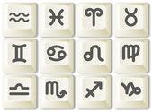 Icônes du zodiaque — Vecteur