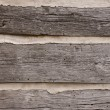 Old wall of log cabine - Stock Photo
