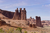 Natural sculpture the Three Gossips — Stock Photo