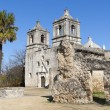 Historic Mission Concepcion in San Antonio, Texas - Stock Photo