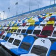 Stock Photo: Colorful stadium seats