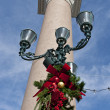 Stock Photo: Christmas decoration on street light