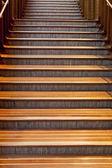 Bella scala in legno — Foto Stock