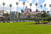 Park at the Pacific Ocean Coast - La Jolla, San Diego, Californi — Stock Photo