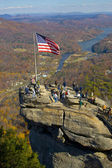 Chimney rock in North Carolina - popular tourist destination in — Stock Photo