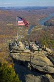Chimney rock in North Carolina - popular tourist destination in — Stock Photo