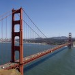 Golden Gate Bridge panorama, with San Francisco in the backgroud — Stock Photo