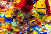 Artwork of Glass Flowers by Dale Chihuly in Bellagio Hotel Casin — Stock Photo