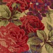 Close-up of tapestry fabric pattern with classical image of the — Stock Photo