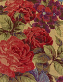 Close-up of tapestry fabric pattern with classical image of the — Foto de Stock