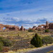 In Arches National Park, Utah, USA - Stock Photo