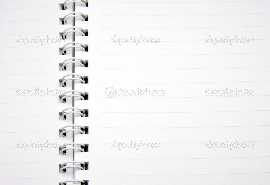 Close up notebook — Stock Photo #10044603