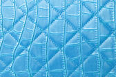 Texture blue leather bag — Stock Photo