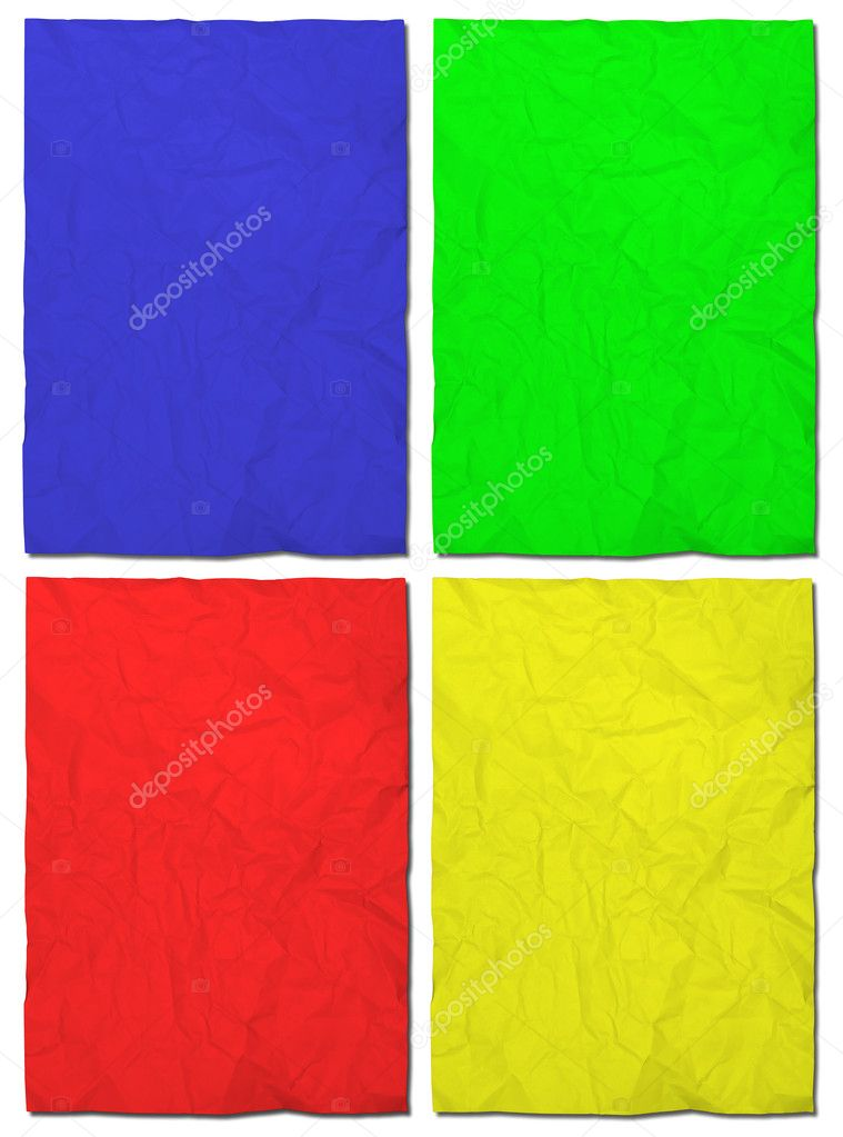 Colorful  crumpled paper set — Stock Photo #10050222