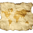 Ancient map, isolated on a white background — Stock Photo