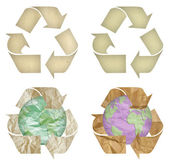 Set of paper recycling symbol isolated — Stock Photo