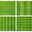 Stock Photo: Set of green grass background