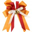 Stock Photo: Orange ribbon and bow Isolated on white background with clipping