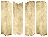 High resolution old paper burnt background isolated on white. It — Foto de Stock