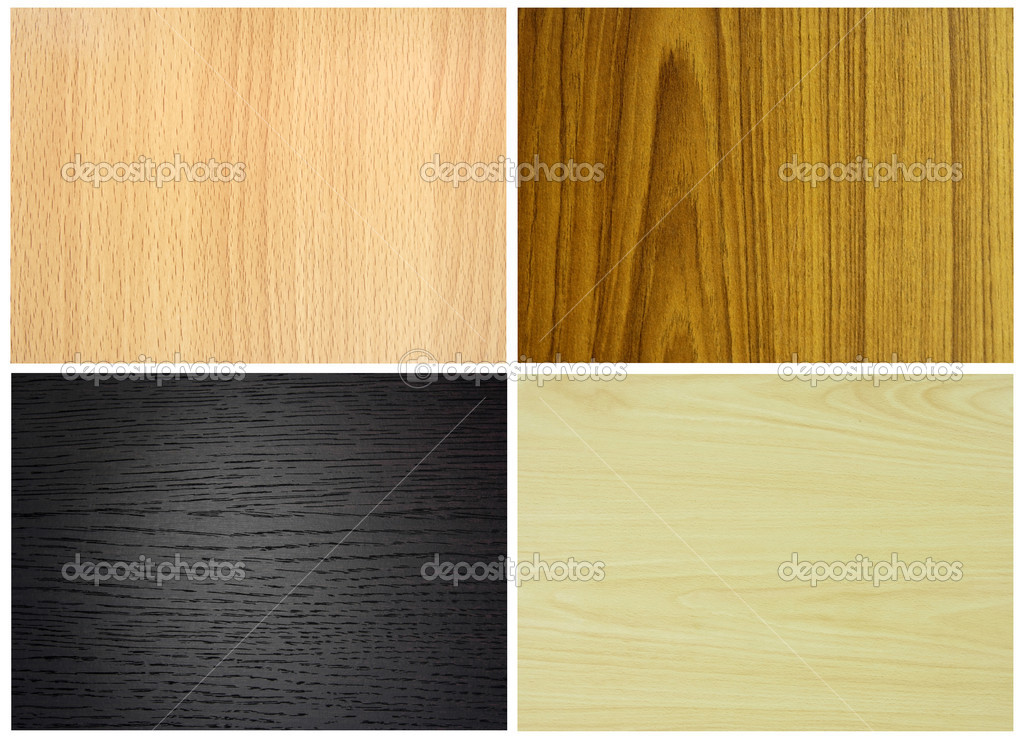 Set of wood textures — Stock Photo #10099114