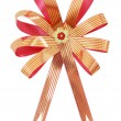 Gift ribbon and bow Isolated on white background — Stock Photo