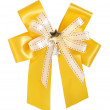 Stock Photo: Orange ribbon and bow Isolated on white background