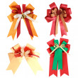 Set of gift ribbon and bow Isolated on white background — Stock Photo #10329570