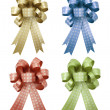 Set of gift ribbon and bow Isolated on white background — Stock Photo
