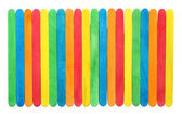 Blank colorful wood ice-cream stick with clipping path — Stock Photo