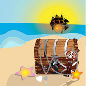 Pirates treasure chest — Stock Photo