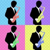 Pop art jazz — Stock Photo