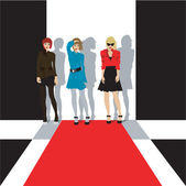 Fashion girls illustration — Stock Photo