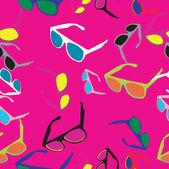 Retro glasses pattern — Stock Photo