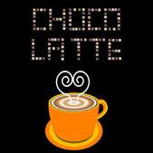 Chocolade cup illustratie — Stockfoto