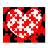 Heart shaped puzzle — Stock Photo