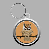Cute owl key-chain — Stock Photo
