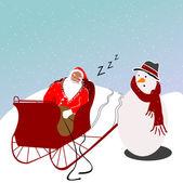 Schlafende santa-abbildung — Stockfoto