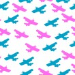 Royalty-Free Stock Photo: Seamless pattern with airplanes