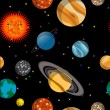 Seamless pattern with planets — Stock Photo