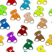 Nahtlose teddy muster — Stockfoto