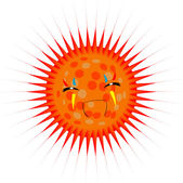 Smiling sun illustration — Stock Photo