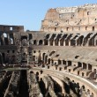 Interior view of roman colosseum - Stock Photo