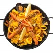 Isolated paella — Stock Photo