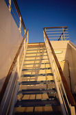 Staircase and walkway on a ferry — Stock Photo