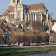 Постер, плакат: Cathedral of Auxerre in Burgundy France