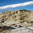 Lenticular cloud and rock in Corsica — Stock Photo
